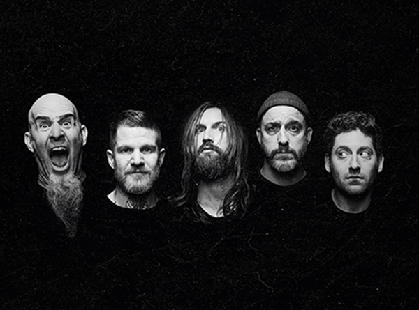image of the 5 2019 members of The Damned Things.