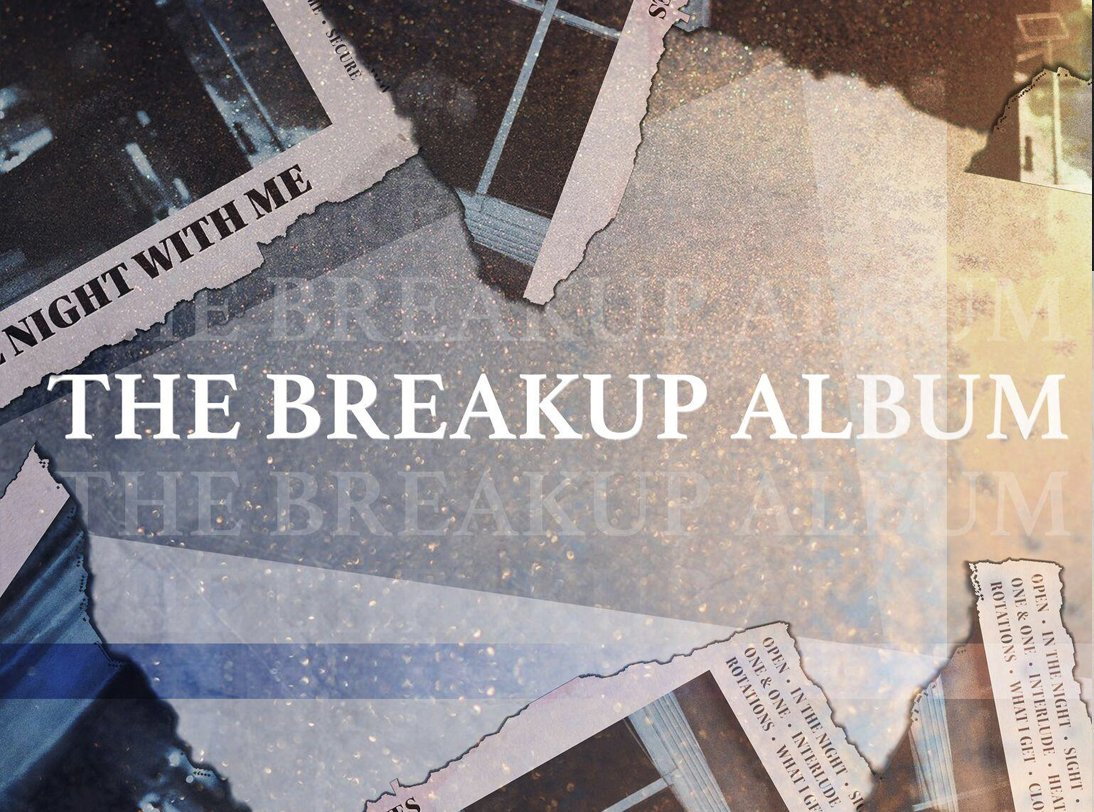 The Other Bones The Breakup Album podcast artwork. Illustration of torn news clippings