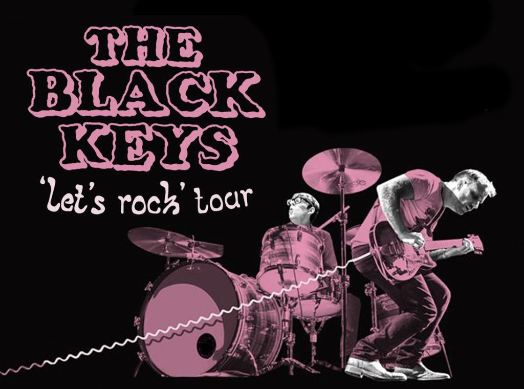 Black Keys tour image. Illustration of the black keys performing