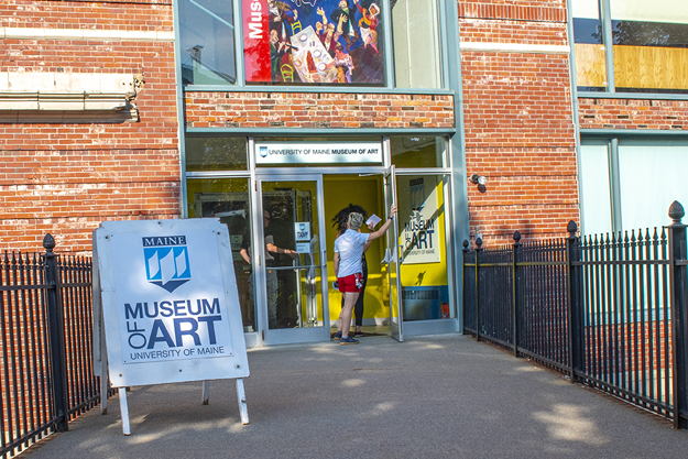 Photo of University of Maine Museum of Art entrance.