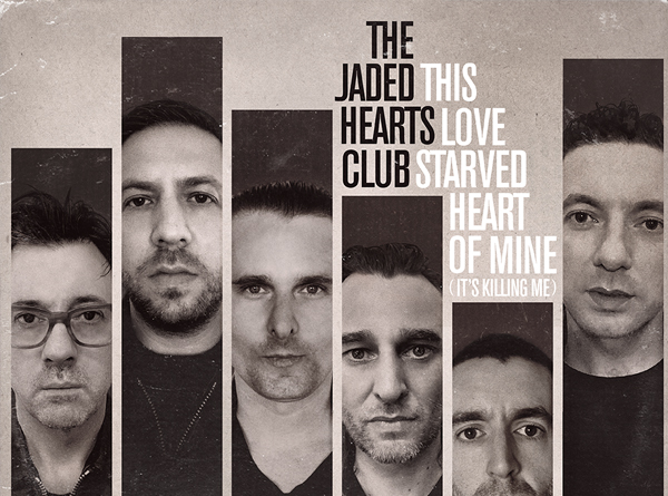 The Jade Hearts Club artwork. Black and white photo of each member's face.