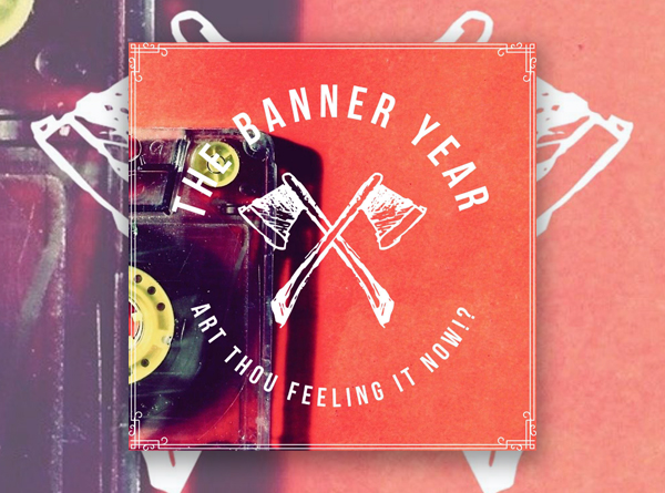 image of The Banner Year logo of crossed axes with a cassette in the background