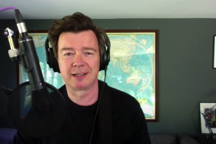 Rick Astley Performing a song acoustic from home.