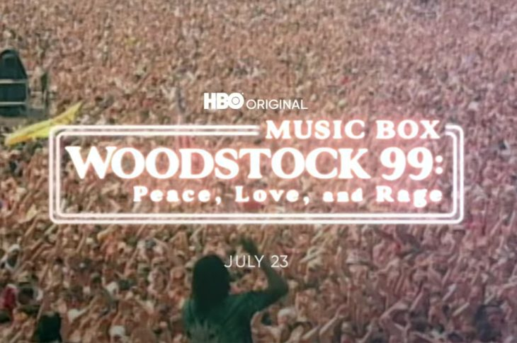 title card for Woodstock 99: Peace, Love, and Rage
