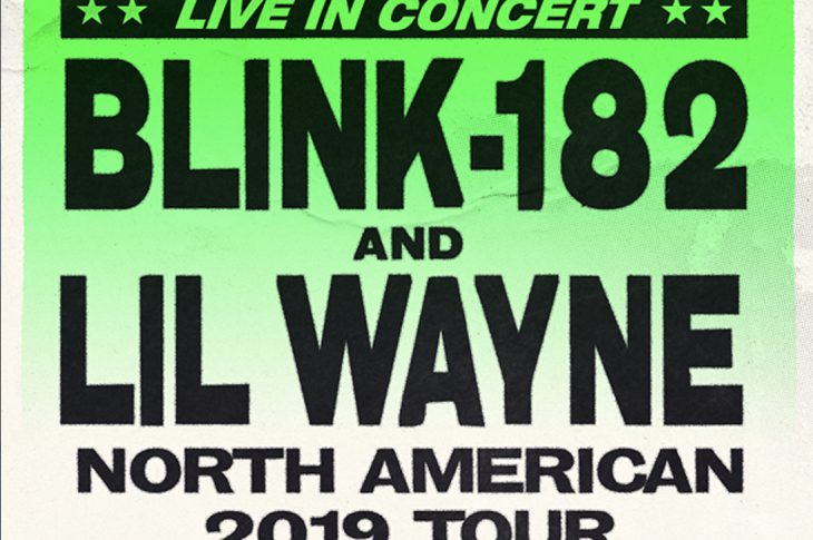 Blink 182 Lil Wayne concert poster thumbnail