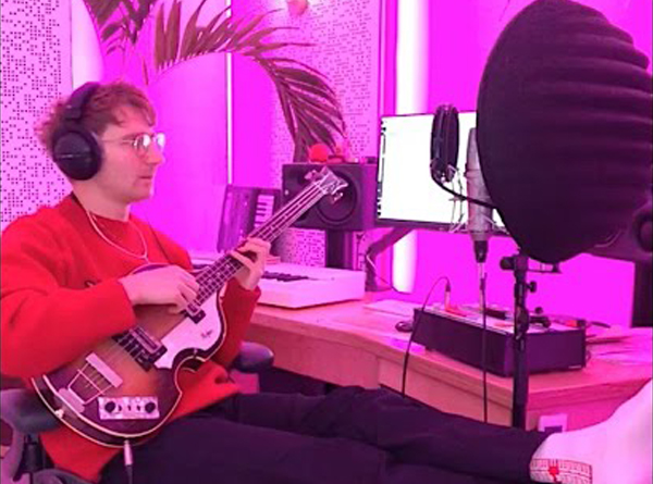 Dave Bayley of Glass Animals recording in home studio
