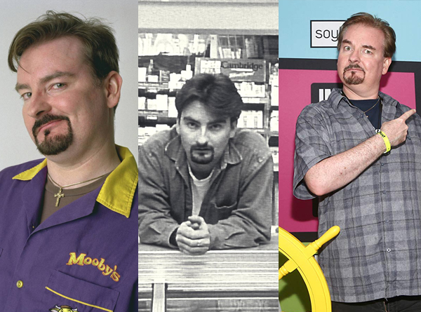 Brian O'Halloran (actor) in scenes from Clerks and Clerks 2.