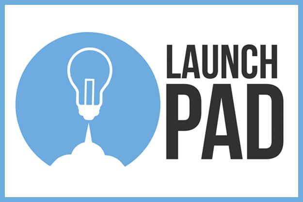 Launchpad logo of lightbulb taking off.