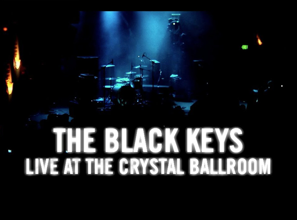 The black keys - live at the crystal ballroom title screen from DVD release