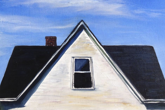 painting of old house roof