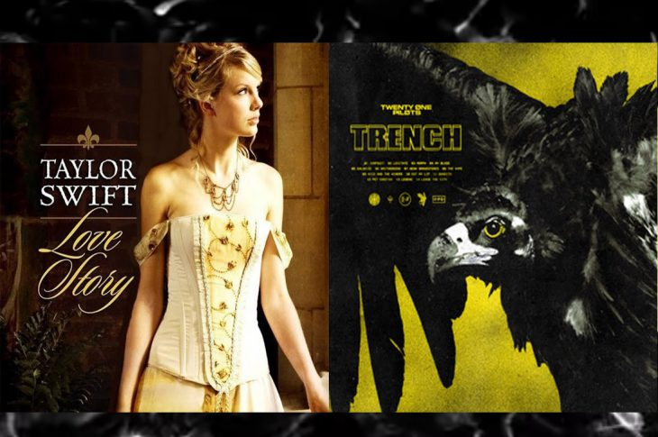 Album artwork from Taylor Switft and Twenty One Pilots