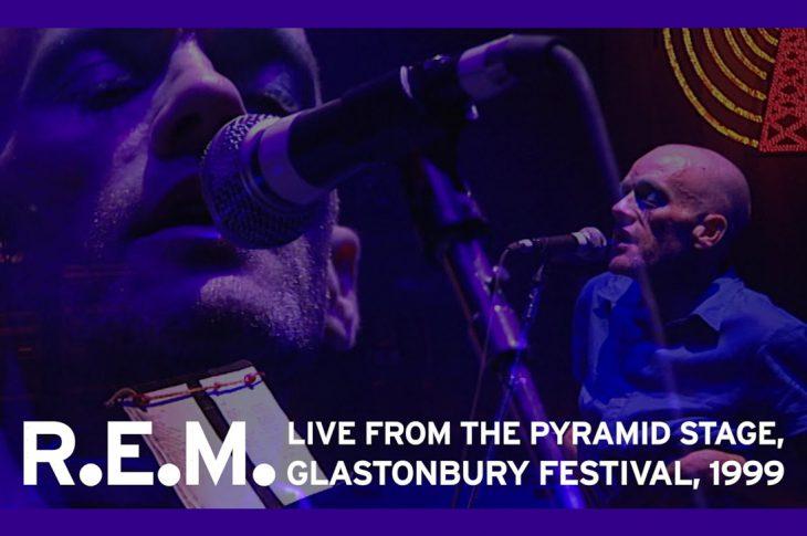 Michael Stipe performing at Glastonbury 1999