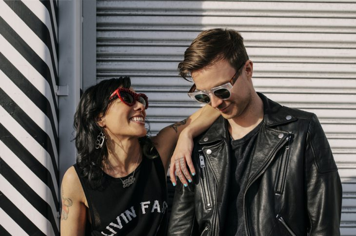 Matt and Kim press photo of duo, provided by FADER label
