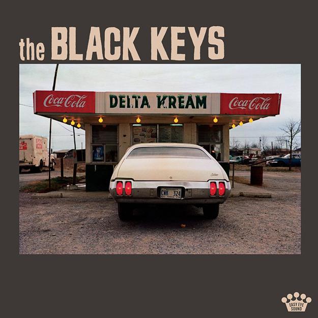 Delta Kream album art. Vintage car in from of Delta Kream ice cream stand.